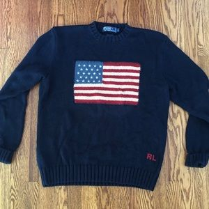 Ralph Lauren Polo Knit American Flag Sweater